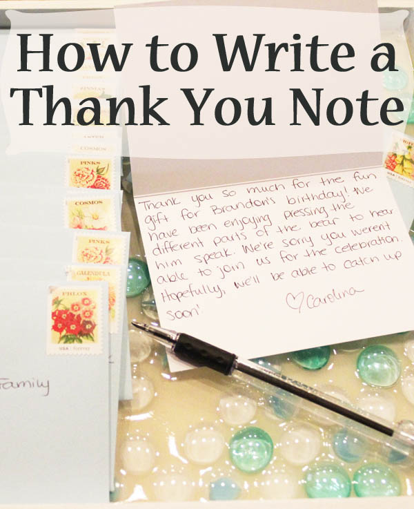 How to write a note to a