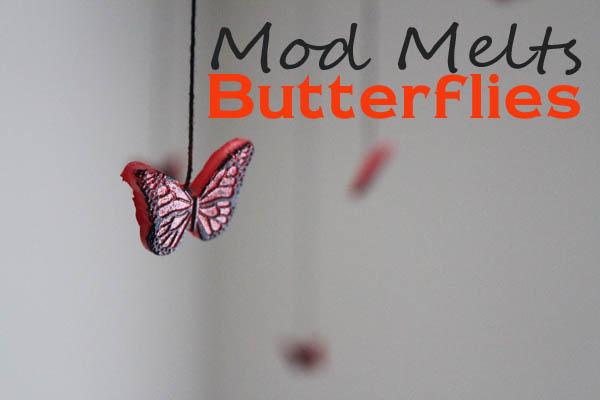 Mod Melts Butterflies hang from ceiling