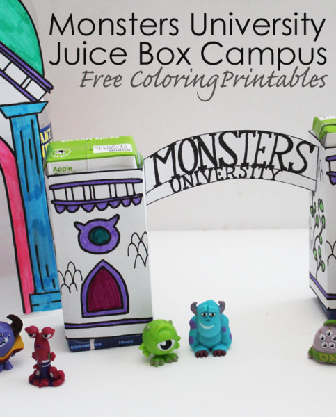 Monsters University Craft – Juice Box Printables