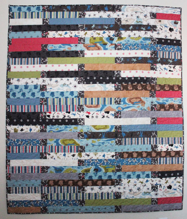 Pirate Jelly Roll Race Quilt