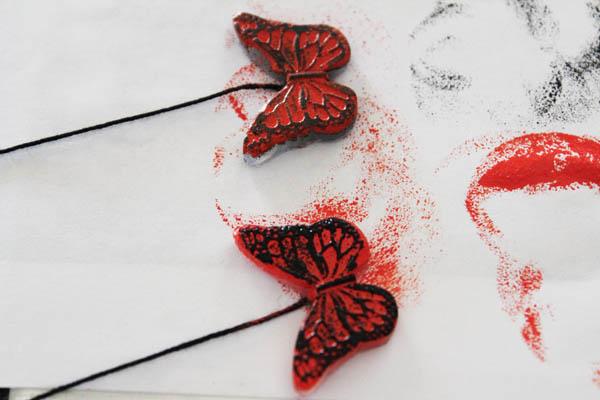 paint butterflies