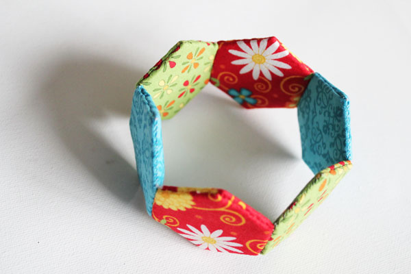 Hexagon Fabric Bracelet Tutorial