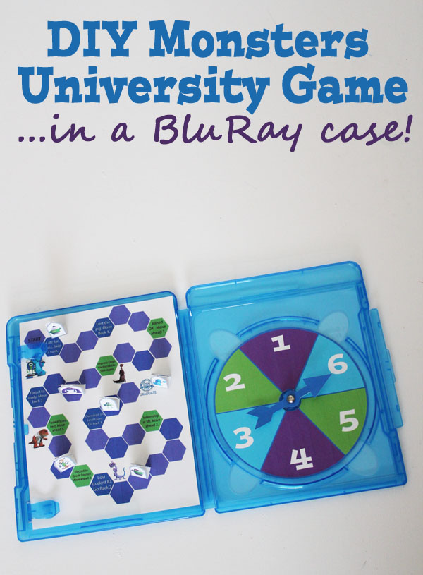 Make a Monsters U game inside a BluRay Case