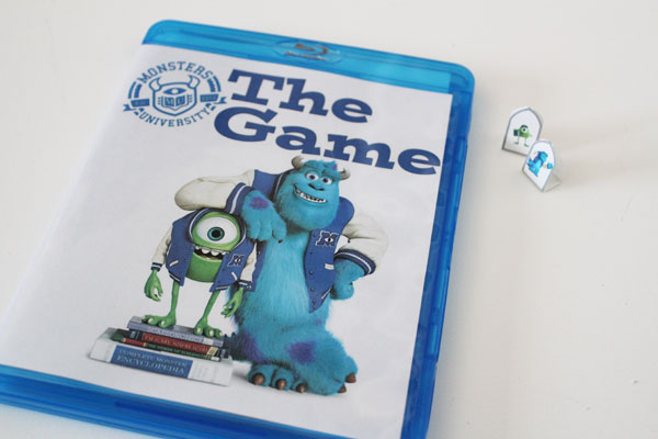 Monsters U Game made from BluRay Case