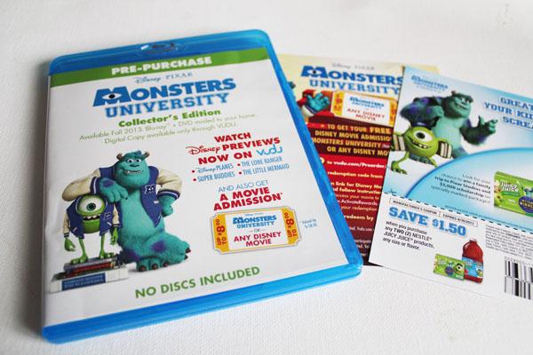 Monsters U Movie presale copy