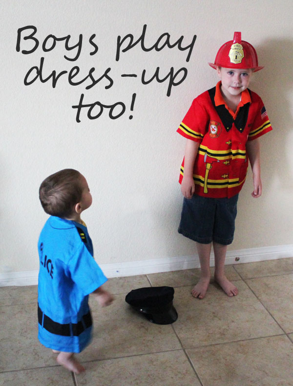boys love to play dress up