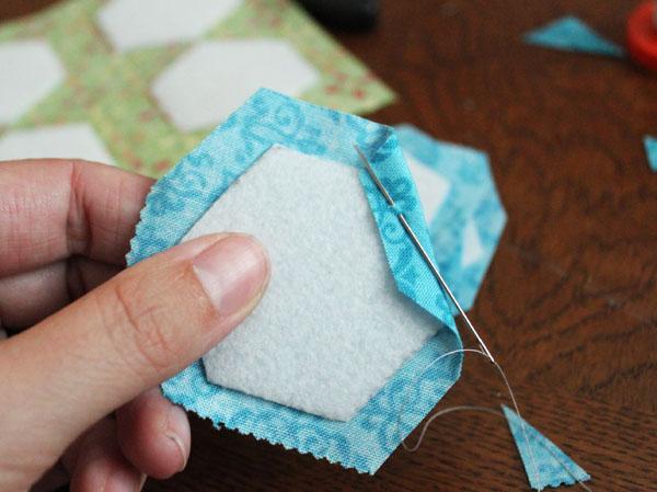stitch down corner