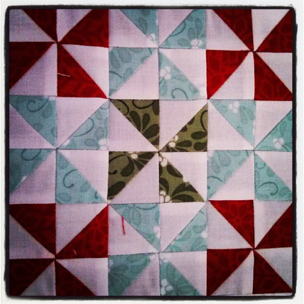 1 inch finished half square triangles