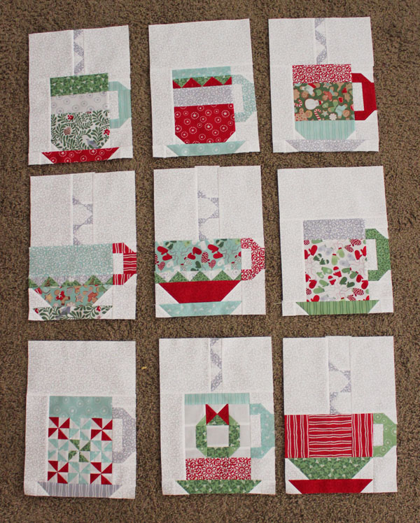 In from the cold quilt blocks