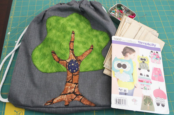 Tree backpack by The Sewing Loft and Simplicity
