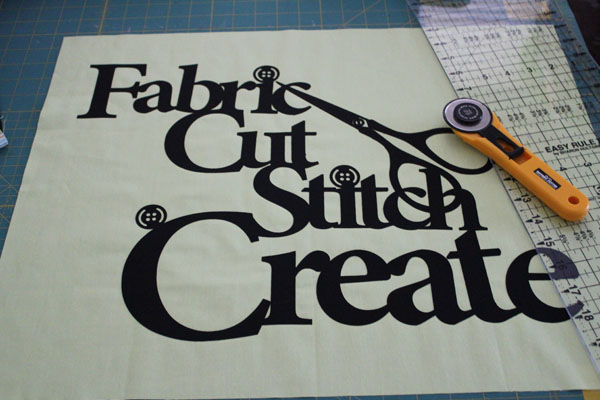 Trim down fabric