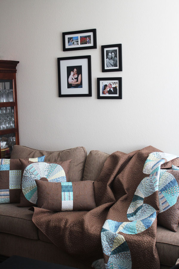 Front room Roots and Wings quilt