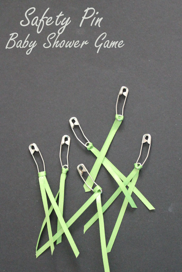safety pin baby shower game