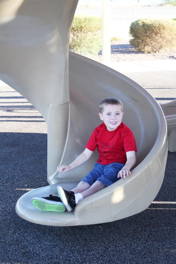 slide at the park