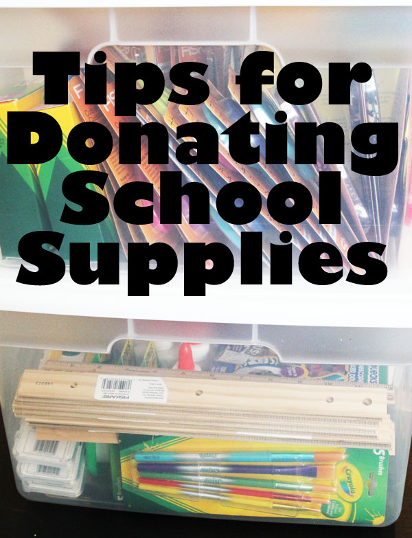 tips for donating school supplies