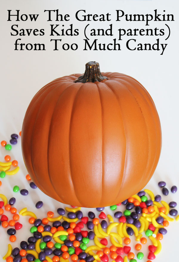 How the Great Pumpkin saves kids and parents from too much candy