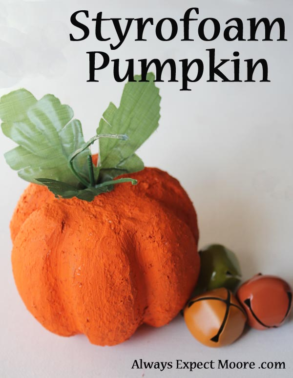 Styrofoam Pumpkin