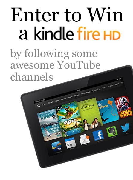 YouTube Kindle Fire Giveaway