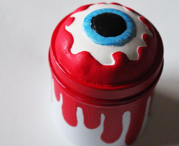 finished eyeball jar