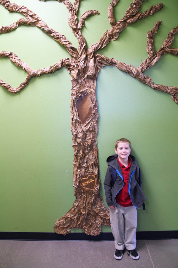 Classroom Tree with my Kindergartener