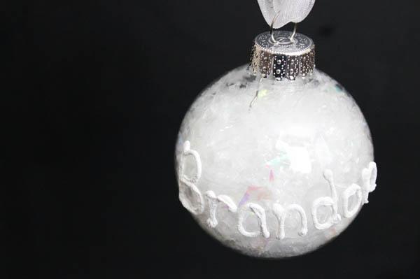 Snow Writing Ornament