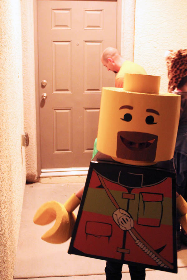lego guy trick or treat