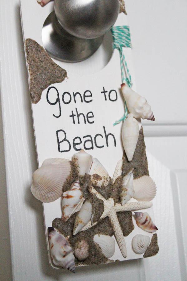 Gone to the Beach door hanger