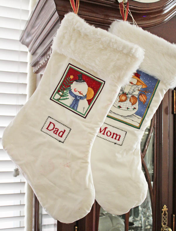 mom and dad stocking