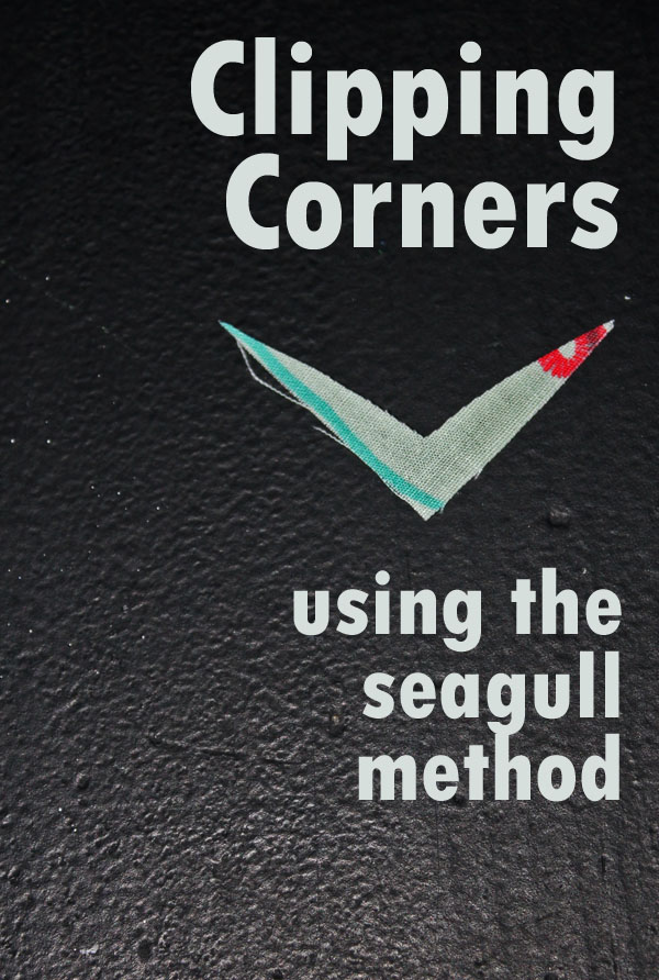 Clipping corners using the seagull method