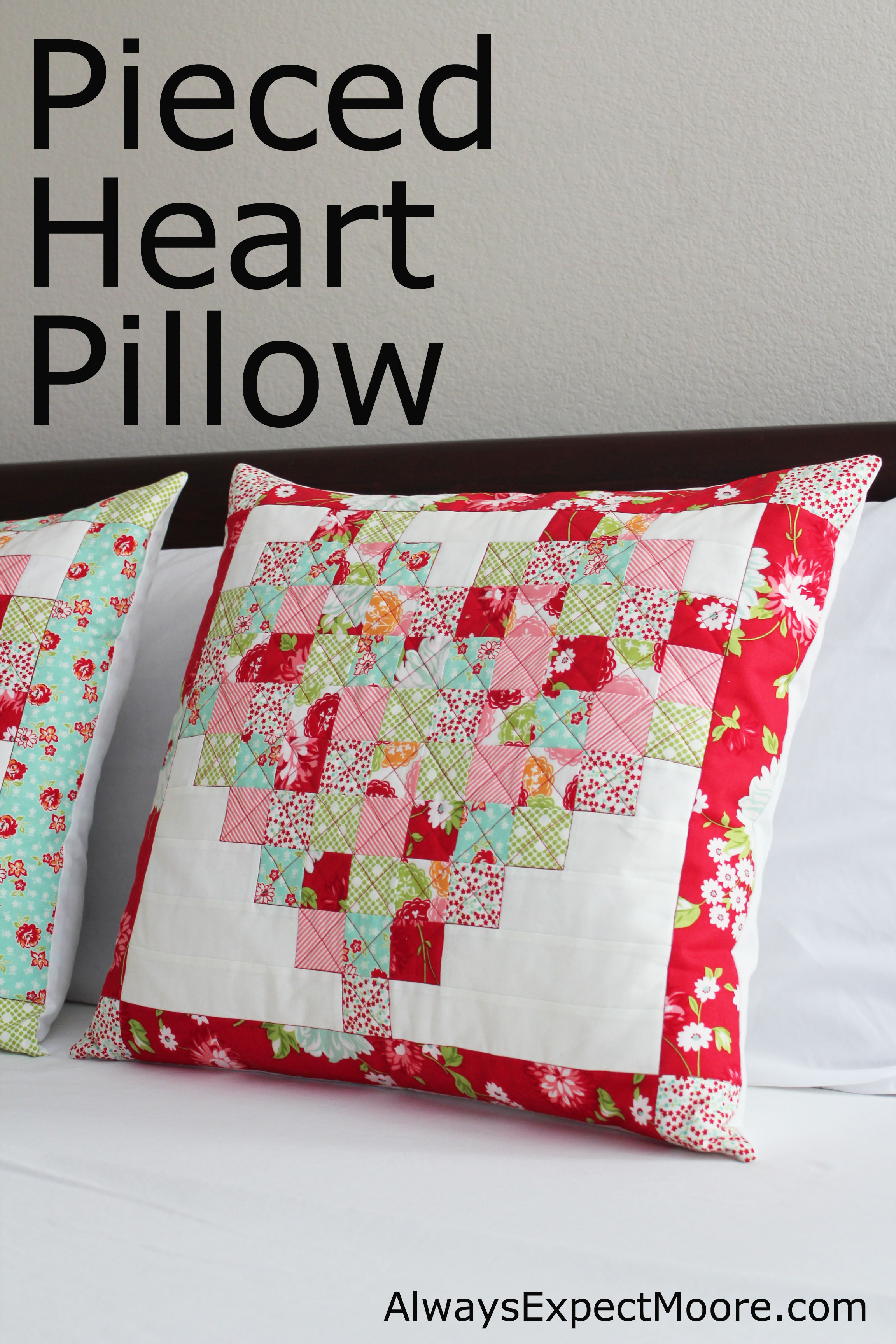 Pieced heart pillow tutorial