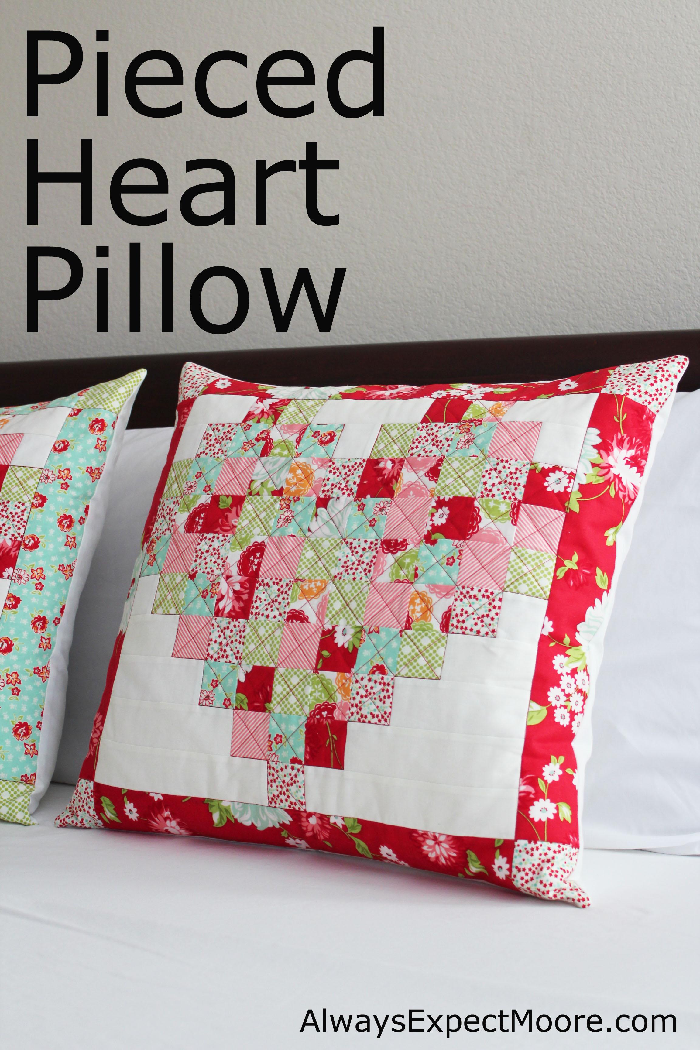 Pieced Heart Pillow