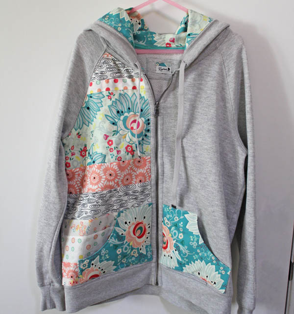 Rapture Fabric on a Zippered Hoodie