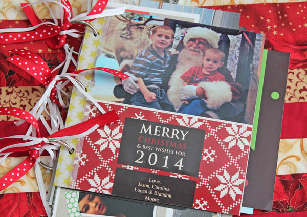 Store and Organize Christmas Cards in a cute book