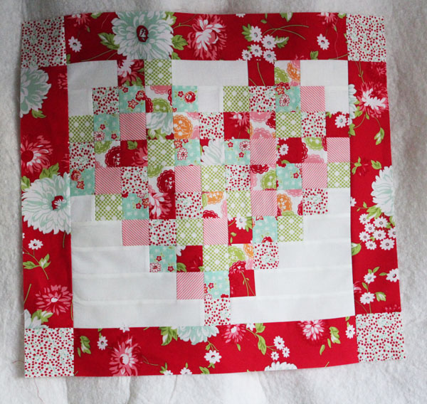 pieced pillow front