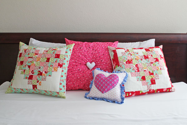 pillows for Valentine's Day