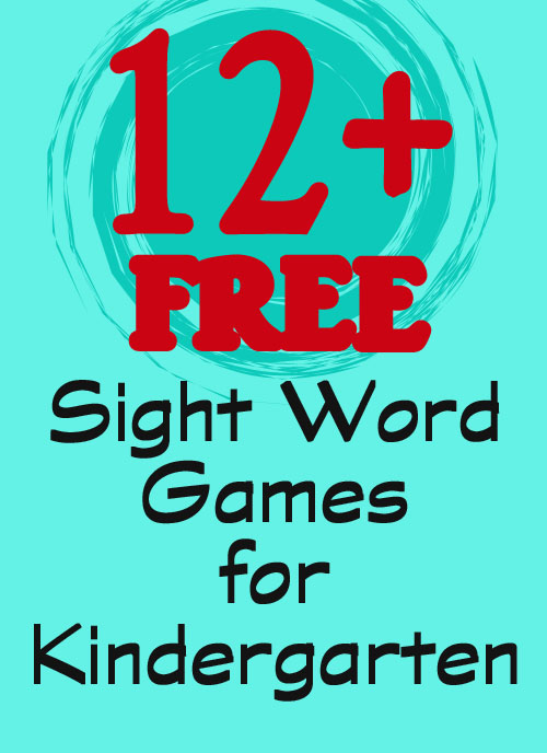 Over a dozen fun and free sight word games for kindergarten