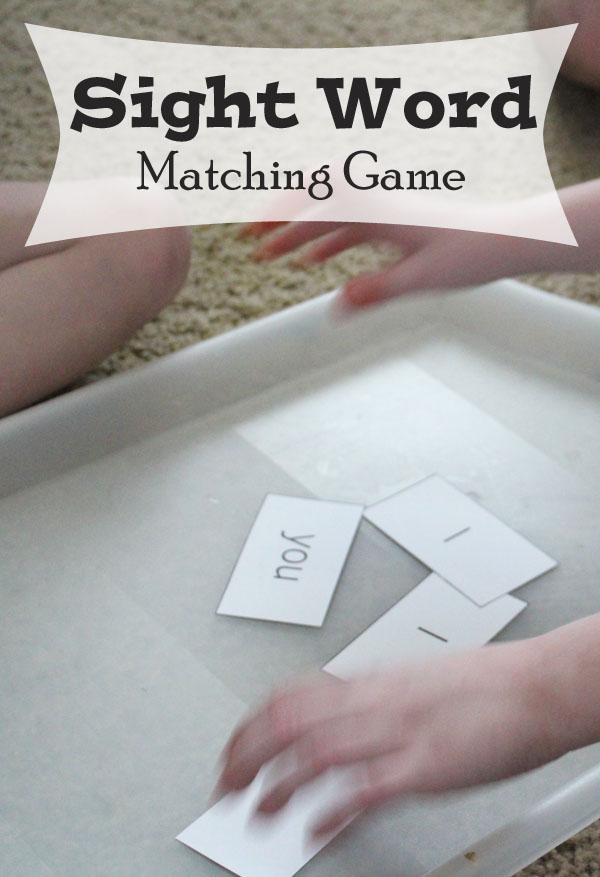 Play a Sight Word Matching Game