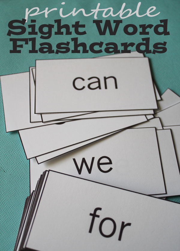 Sight  Word are sight Flashcard Printables printable word
