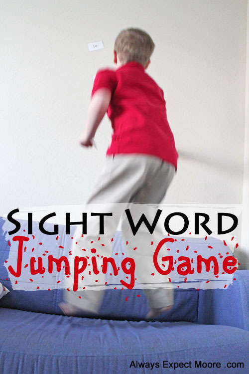 Sight Word Jumping Game