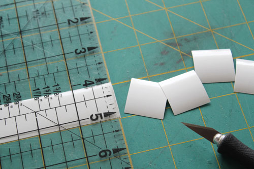 cut six squares