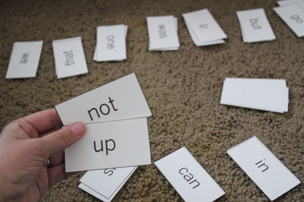 pairs of sight word go fish game