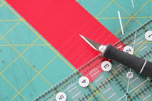 quarter inch strips of Duck Tape