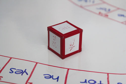 sight word dice after playing