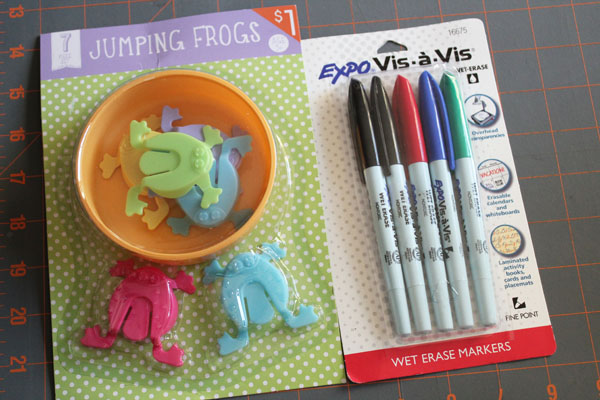 supplies to make jumping frog sight words