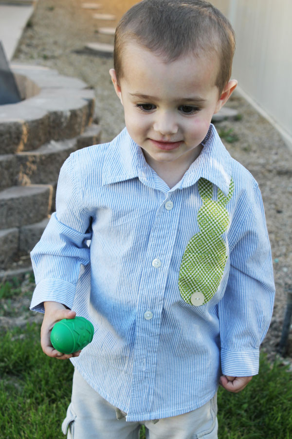 Easter bunny pocket shirt