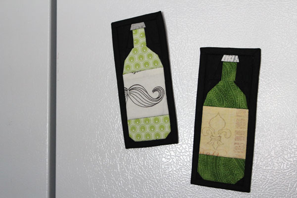 quilted refrigerator magnets