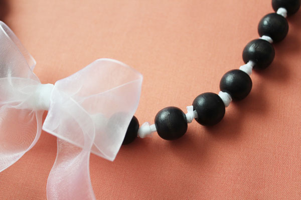 wooden beads are made to glow like pearls