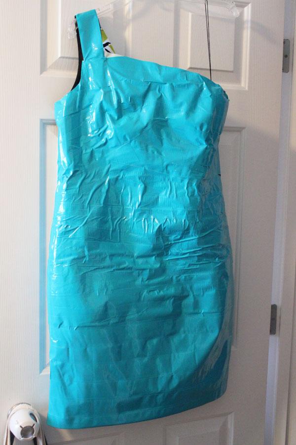 Finished basic Duck Tape Dress