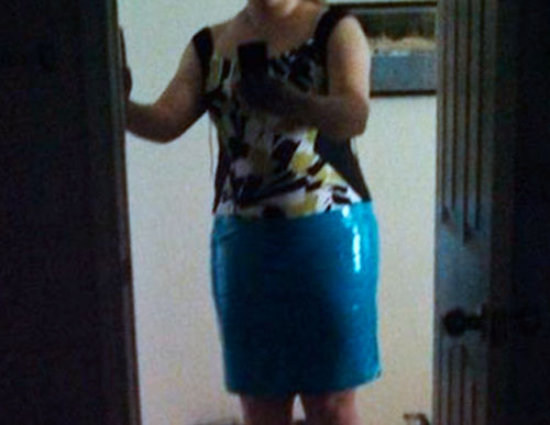 bottom of the Duck Tape Dress