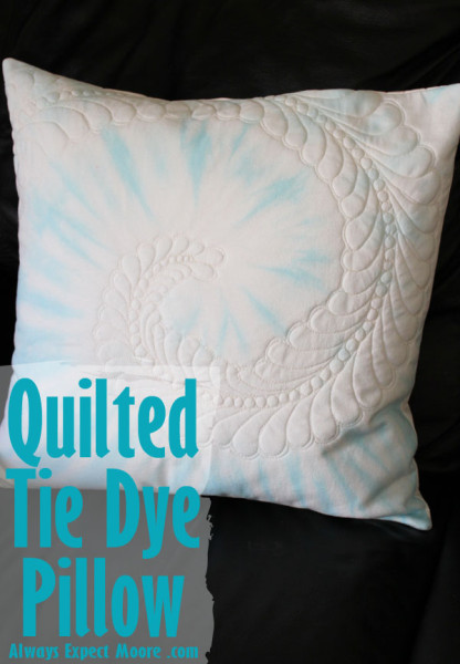 Make a quilted tie dye pillow